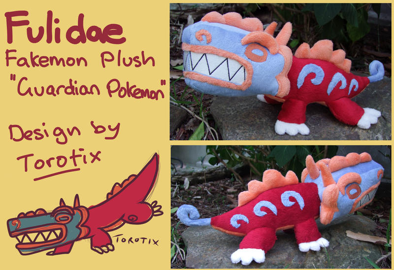 Fakemon plush 'Fulidae' designed by Torotix by scilk