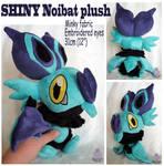 Shiny Noibat Pokemon plush