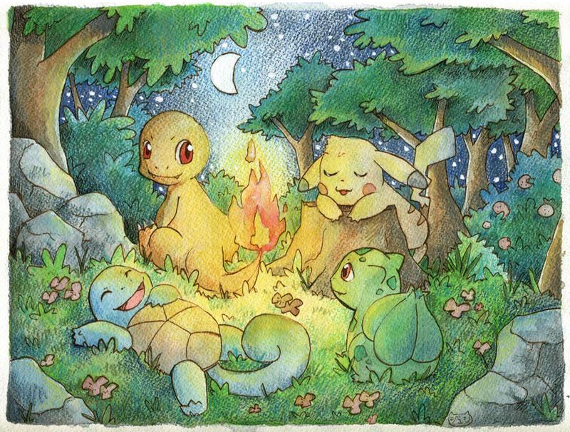 Four friends by SilkenCat