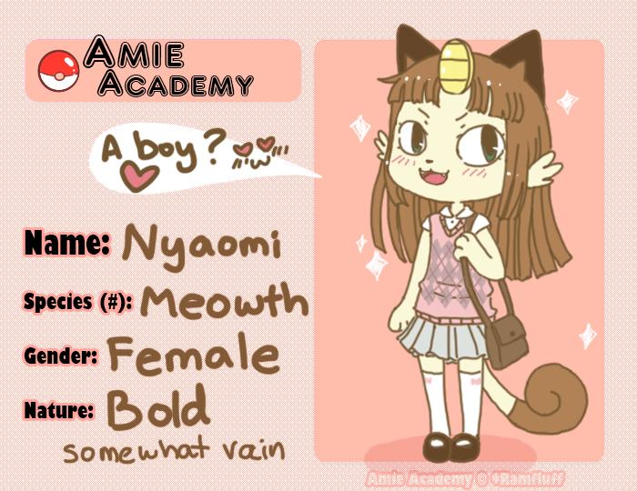 Amie-Academy App Nyaomi by scilk