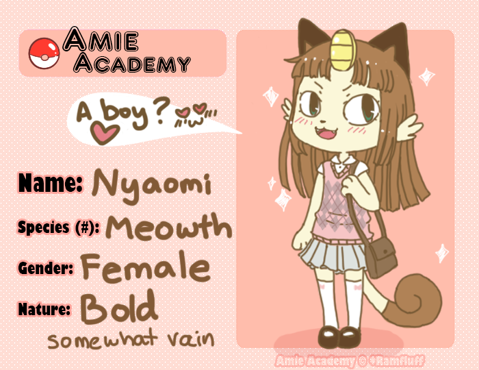Amie-Academy App Nyaomi by SilkenCat