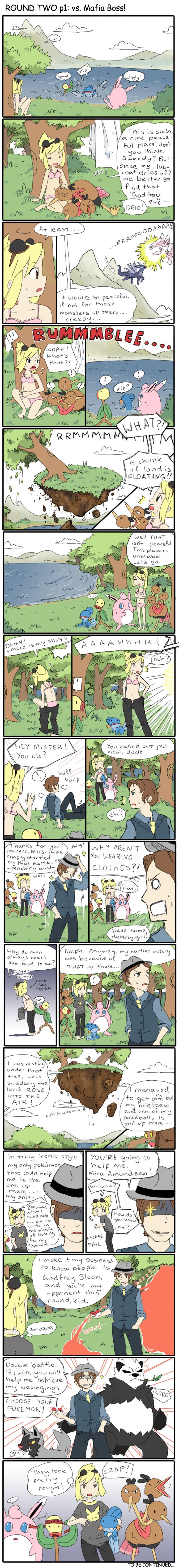 DOCT round 2 page 1: VERSUS MAFIA BOSS! by SilkenCat