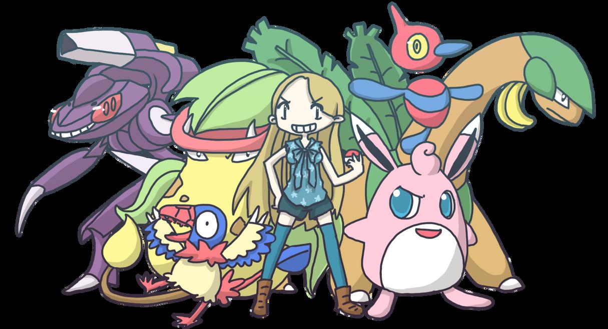Silk's Pokemon team by SilkenCat