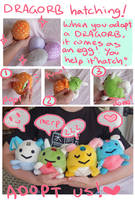 DRAGORB plush hatching by scilk