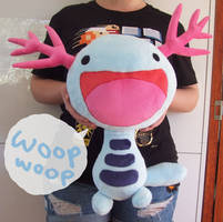 FOR SALE giant Wooper plush by scilk
