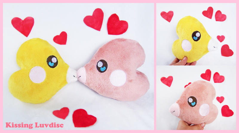 FOR SALE kissing Luvdisc plush by scilk