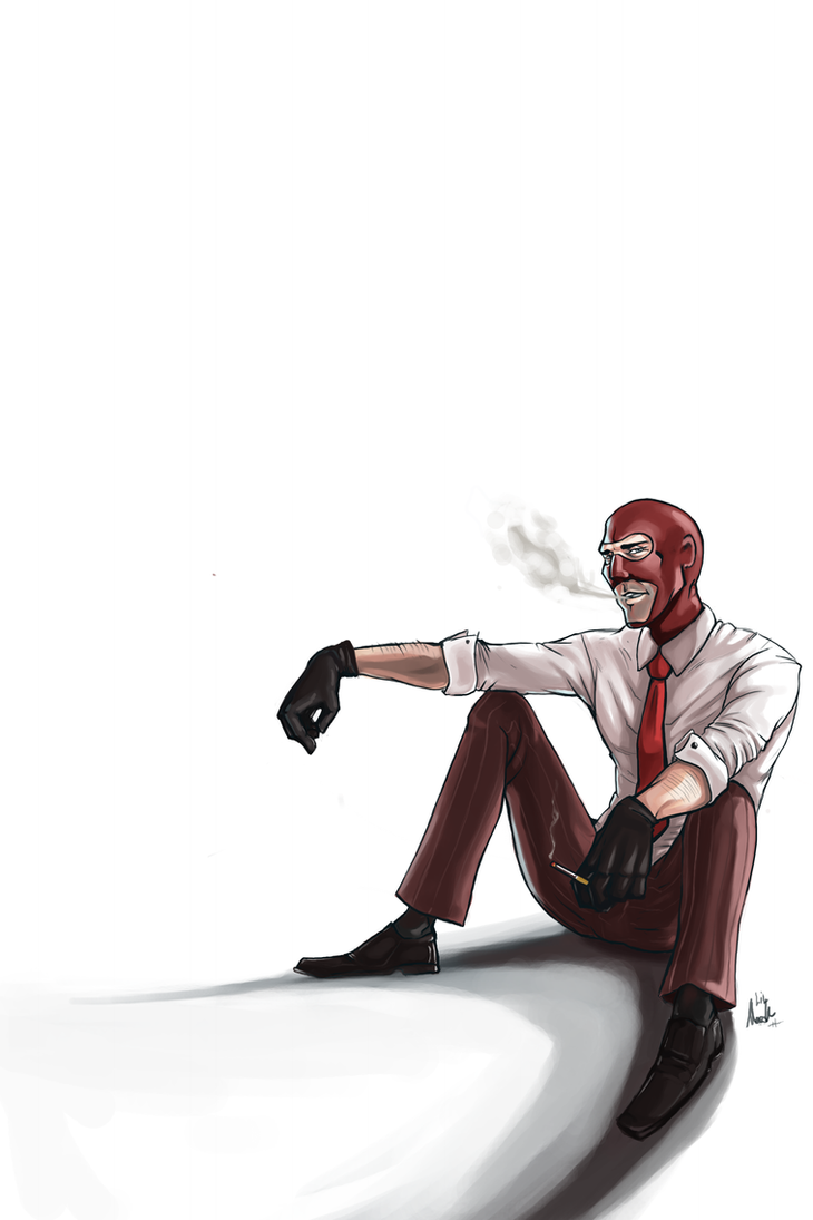 Red  Spy by LittleMeesh