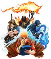 Commission: TF2 Elementals