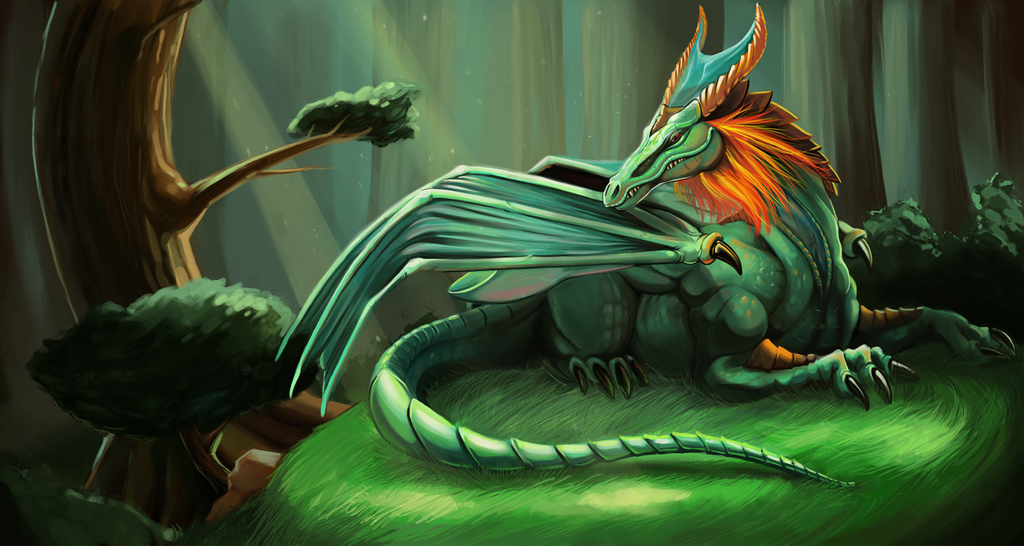 The Emerald Dragon by LittleMeesh