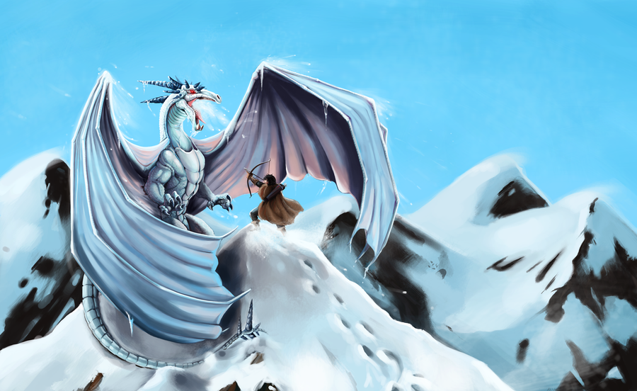 Commission: Ice Dragon Cover by LittleMeesh