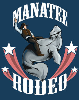 T-Shirt Design: Manatee Rodeo