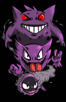 T-shirt: Pokemon- The Ghost Three