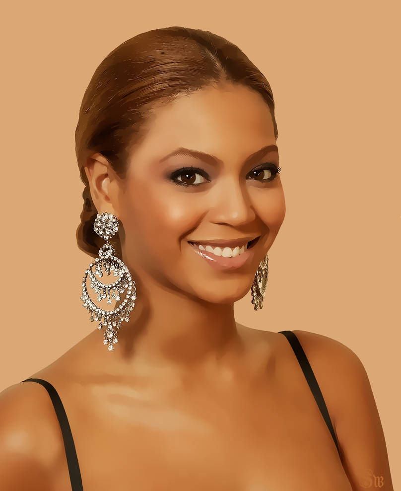 digital painting of beyonce by mayqita