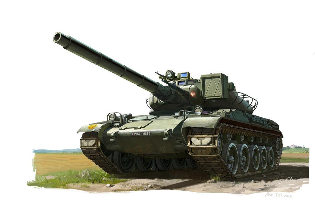 French Battle Tank  AMX 30 B by Mr-Tri