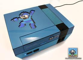 Backlit Mega Man 25th Anniversary NES by Platinumfungi
