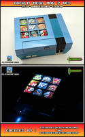 Backlit Mega Man 2 NES - 25th Anniversary Edition by Platinumfungi