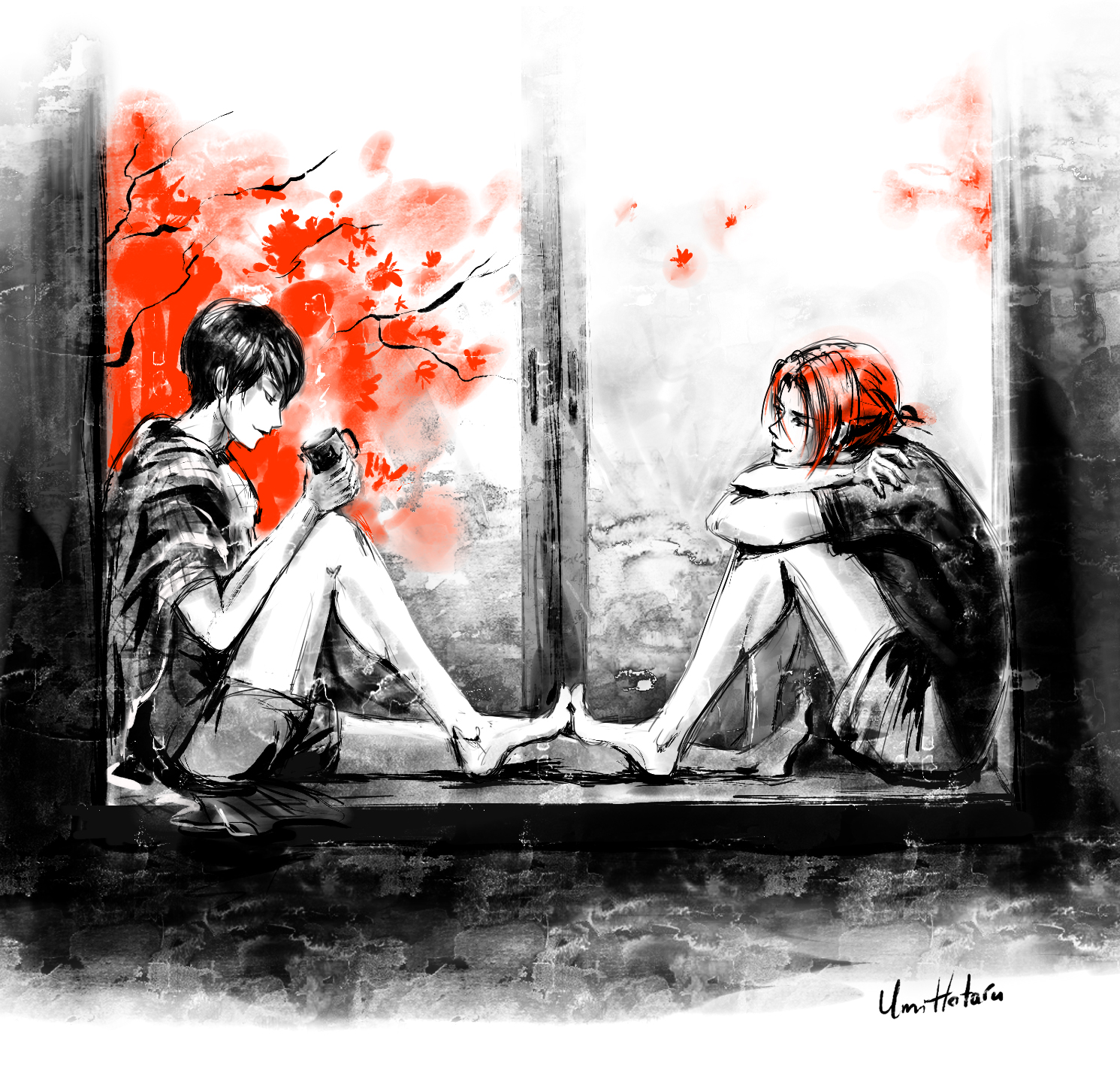 Red Fall by uminohotaru
