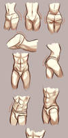 Hips study by Azeher
