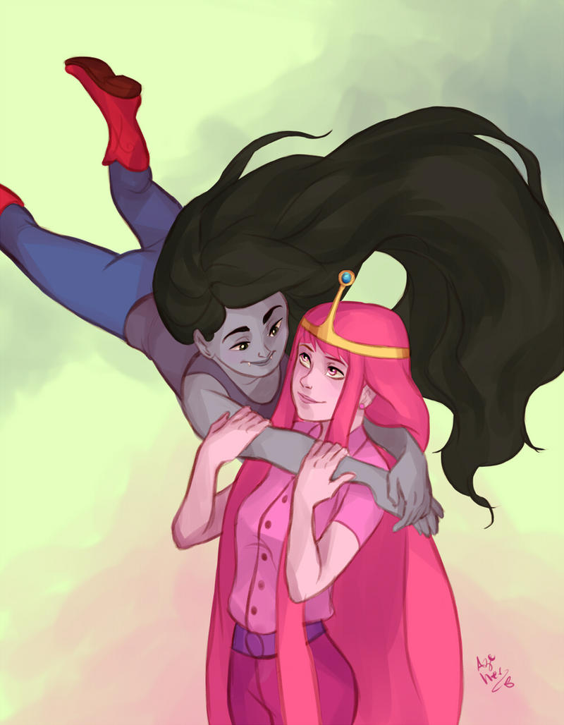 bubblegum and marceline by Azeher