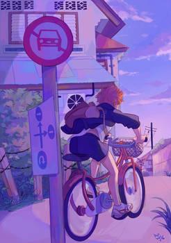 biking toward victory