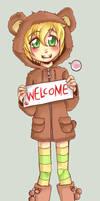 Pedobear-chan by SirPrinceCharming