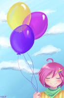 Girl with baloons by SirPrinceCharming