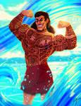 No one has tattoos like Gaston