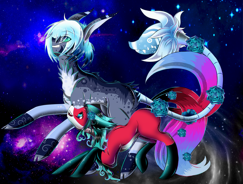 Contest Entry : Kol and Haru (Galaxy Enchantment) by KitsuneHebi