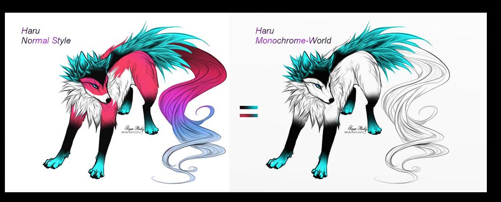 Haru Styles ( Wolf-Form) by KitsuneHebi