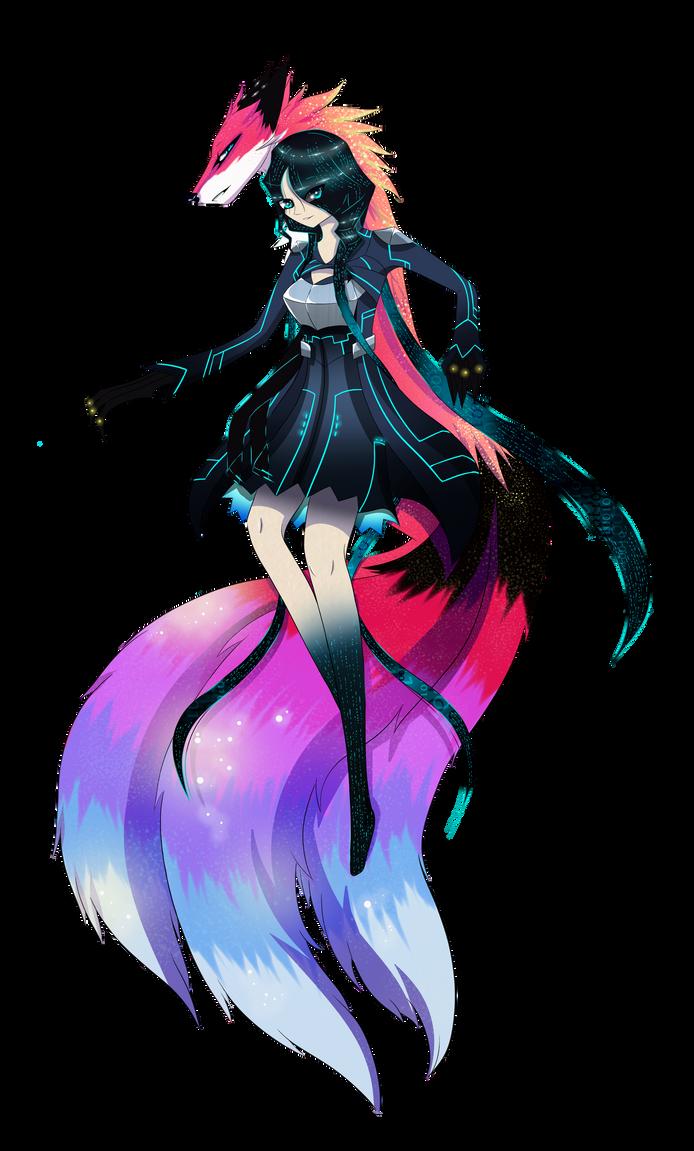 True Form [ Cyber and Kitsune - Form ] by KitsuneHebi on DeviantArt