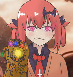 Satania with the Infinity Gauntlet