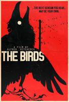 The Birds - Hitchcock Alt. Minimalist Poster by edwardjmoran