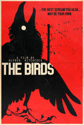 The Birds - Hitchcock Alt. Minimalist Poster