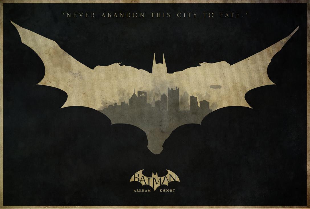 Father to Son - Batman: Arkham Knight Poster by edwardjmoran