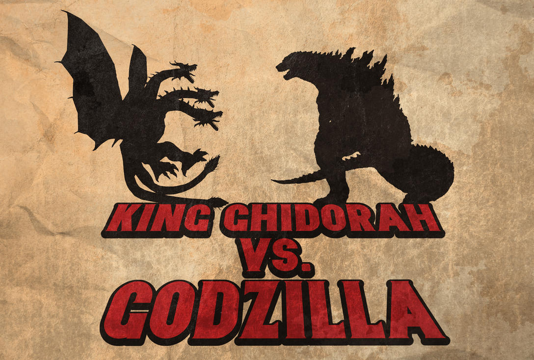 King Ghidorah vs. Godzilla - Fight Poster by disgorgeapocalypse