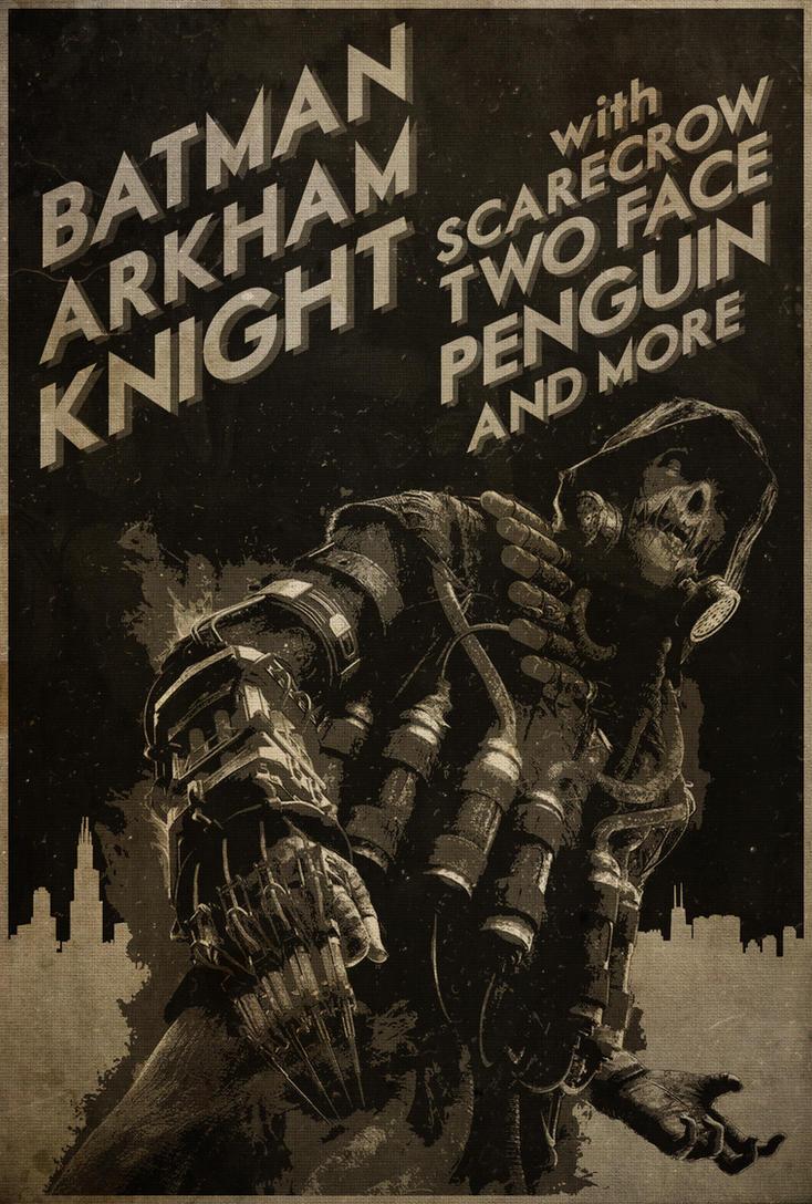 Be Afraid! - Batman: Arkham Knight Neo-Noir Poster by disgorgeapocalypse
