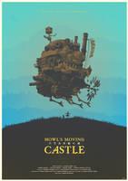 Spirit of the Demon - Howl's Moving Castle Poster