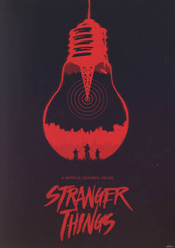 The Upside Down - Stranger Things Poster