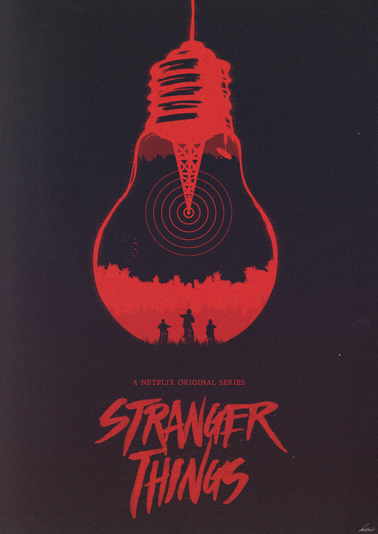 The Upside Down - Stranger Things Poster by edwardjmoran