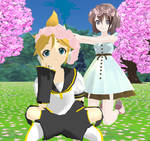 Len Kagamine and Zimi Samune: tiara of flowers!