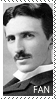 Nikola Tesla fan stamp by ChibiRat3019