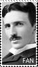 Nikola Tesla fan stamp by ChibiRat3019