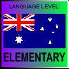 English Language Level Australia ELEMENTARY by PicOfLanguages