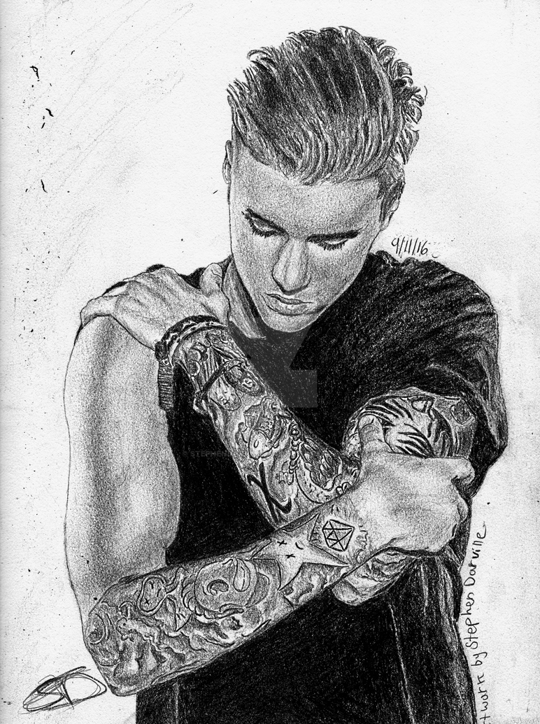 how to draw justin bieber 2017
