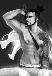Naked Hanzo by Moofle