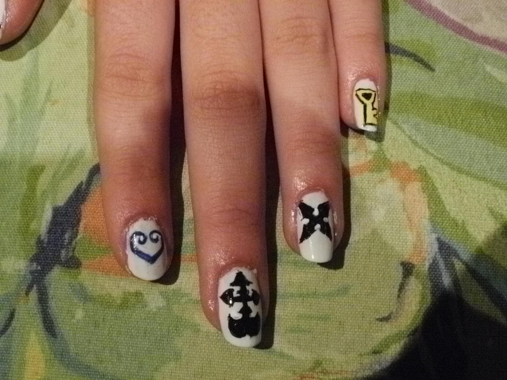 Kingdom Hearts nails 2 by meardell on DeviantArt