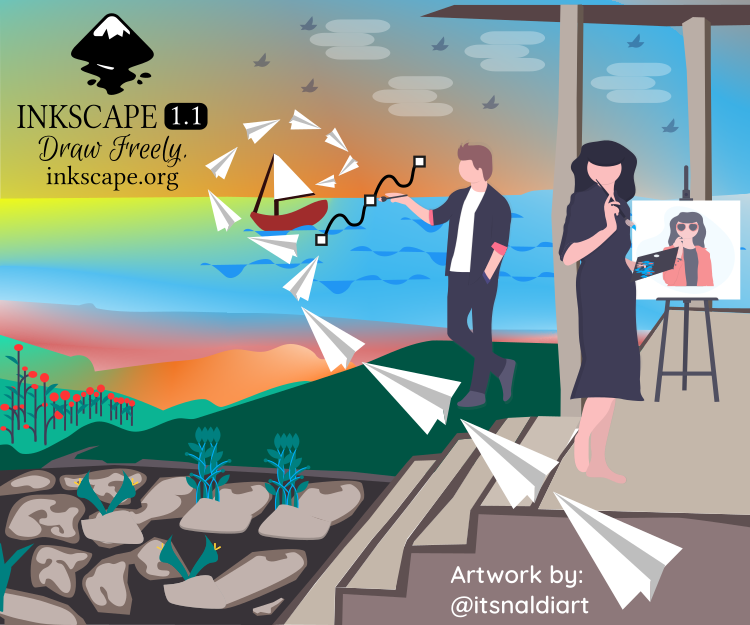 Ocean Dreamer - Inkscape About Screen Contests 1.1