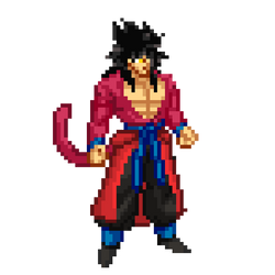 Xeno Goku ssj4 Supersonic  Warriors Style Sprite