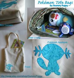 Pokemon Tote Bags by ravenclawyoshi