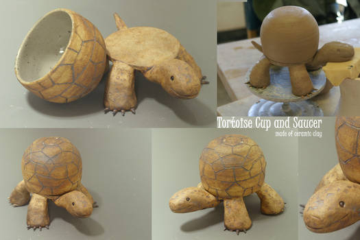 Tortoise Cup and Saucer
